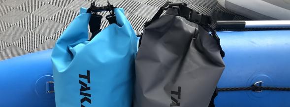 Wasserdichte Tragetaschen, Slip-Räder, Angelrutenhalterungen und mehr von Takacat